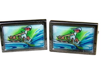 Comic Rowing Cufflinks from an exclusive Trusslers image
