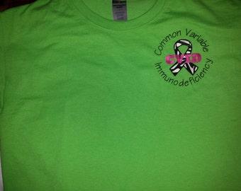 CVID Awareness Zebra Ribbon T-Shirt