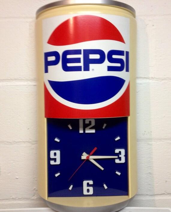 Vintage Pepsi Advertising Display Clock By Randomoniumm On