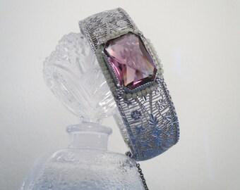Superb Edwardian Filigree Bangle Bracelet by G?. H. P.