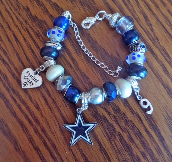 dallas cowboys charm bracelet dallas cowboys european charm bracelet nfl tony romo 3455