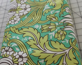 1 1/2 Yards Amy Butler Soul Blossom Temple Tulips Emerald Home Decor Sewing Quilting Inventory Reduction Clearance Fabric-END OF BOLT