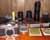 Konica Autoreflex A3 35mm SLR Camera Kit