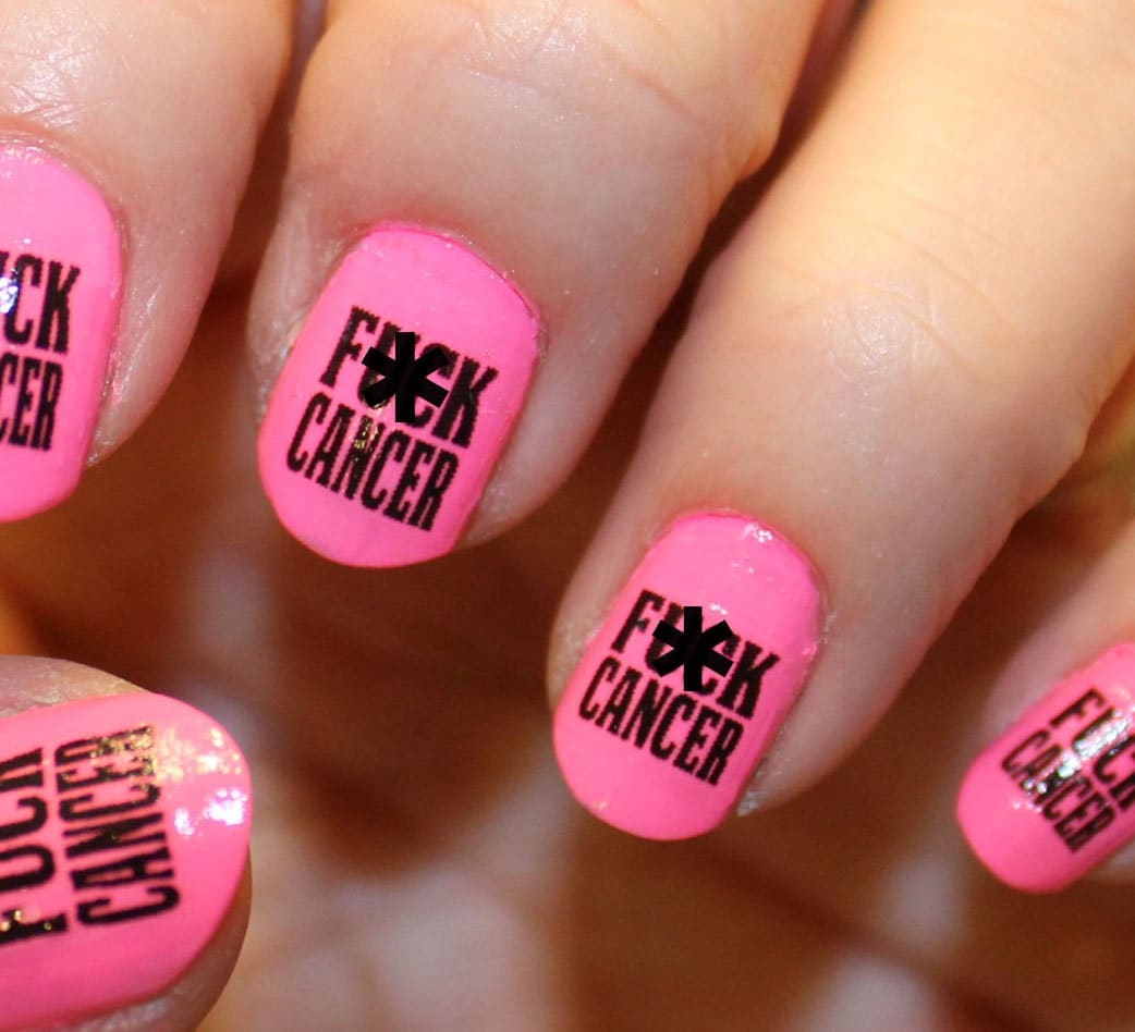 Nail Art Ideas nail art water decal : 72 FK CANCER Nail Art Decals Megapack Fkc Breast Cancer