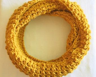 SUMMER SALE - Men's or Women's Golden Mustard Favorite Infinity Scarf