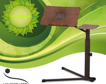 Lounge-book Ecodesign - Ergonomic Laptop Support. Fully Adjustabl useful with Tablet PC, E-book. Made by metal, Biopolymer