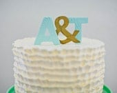 Personalized Wedding Initial Cake Toppers