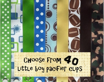 Pacifier Clips for Baby Boy - Choose 3 - Soothie, Nuk, Mam