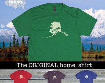 Alaska Home. shirt- Men's/Unisex red royal purple green