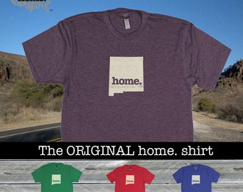 New Mexico Home. shirt- Men's/Unisex red green blue purple