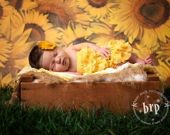 6ft x 6ft Photography Floordrop or Backdrop - Sunflower Photography Backdrop -  Item 107