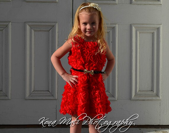 The Olivia - Red flower girl dress for toddlers and girls sizes, 1t, 2t, 3t, 4t, & 5t