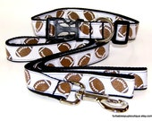 football print adjustable dog collar and leash set Choose YOUR size.