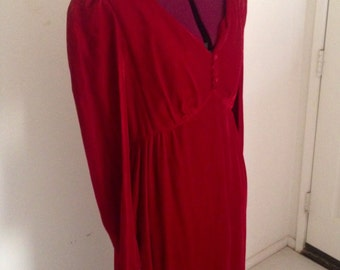 Vintage Lipstick Red Velvet Maxi Dress Lorie Deb of San Fransico