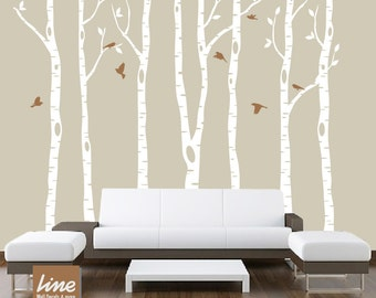 "Wall Birch Tree Decal Forest 96""  tall (8 feet)"