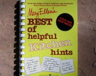 Vintage Kitchen Hints Book, Mary Ellen's Best of Helpful Kitchen Hints, vintage book, helpful kitchen hints book