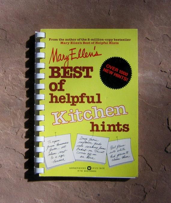 Ellens Kitchen: Items Similar To Vintage Kitchen Hints Book, Mary Ellen's