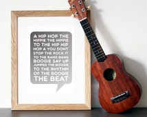 The Sugarhill Gang 'RAPPER'S DELIGHT' - Song Lyric Art - Wall Art - Rap Lyrics - Song Lyrics