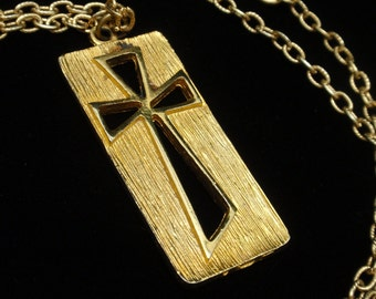 Cross Pendant Necklace Vintage