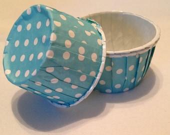 Blue Polka Dot Snack Cups