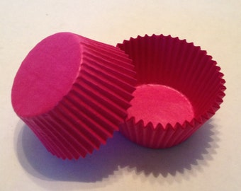 Bright / Hot  Pink Cupcake Liners
