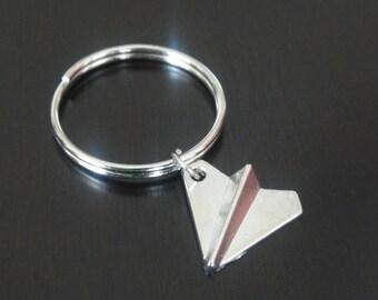 Paper Plane Key Chain