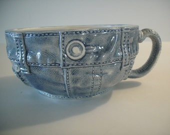Coffee Mug, tea cup, soup bowl. Blue Jean