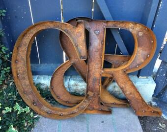 """14"""" Rustic Metal Letters & Numbers"""