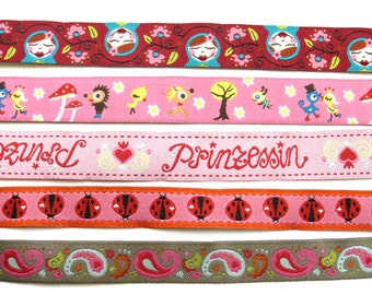 """Woven Ribbon package """"(Not only) For Girls"""" Farbenmix 5x2m woven ribbon"""