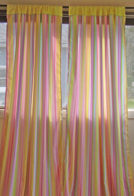 Sale 25 Off Striped Pastel Rainbow Pink By Rawradfishdesigns