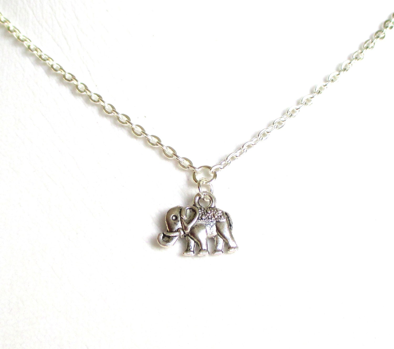 lucky elephant necklace silver elephant charm