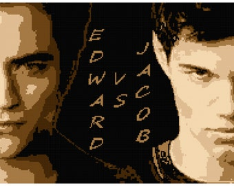 Jacob Black And Edward Cullen Blanket Pattern