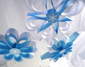 Frozen Party Hanging Snowflakes, Winter party decorations, Wall decorations