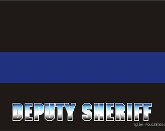 Thin Blue Line Deputy Sheriff Decal SKU: D1035-0002