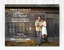 Photo Calendar Save The Date Magnet or Card DIY PRINTABLE Digital File or Print (extra) Save The Date Calendar Country Save The Date