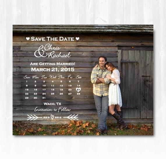 Diy Calendar Save The Date : Photo calendar save the date magnet or card diy printable