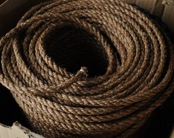 Nautical Decor - Manila Rope DIY - Rope Themed Crafts - (this is per 15 feet) (3/8 inch diameter manila rope)
