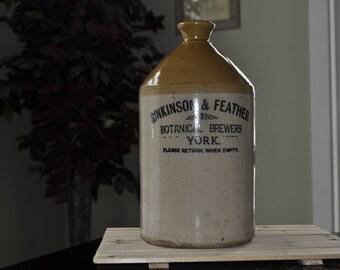 19th Centurey Stoneware 2 -2.5 gal jug. Botanical Brewers York. Pearsone CO. - Chesterfiled. Whittington Moor. SALE!!!