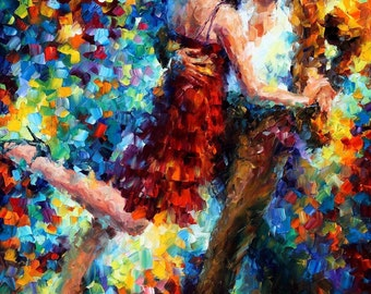 Famous Dance Paintings Dancing Couple Wall Art - Tango Of Triumph
