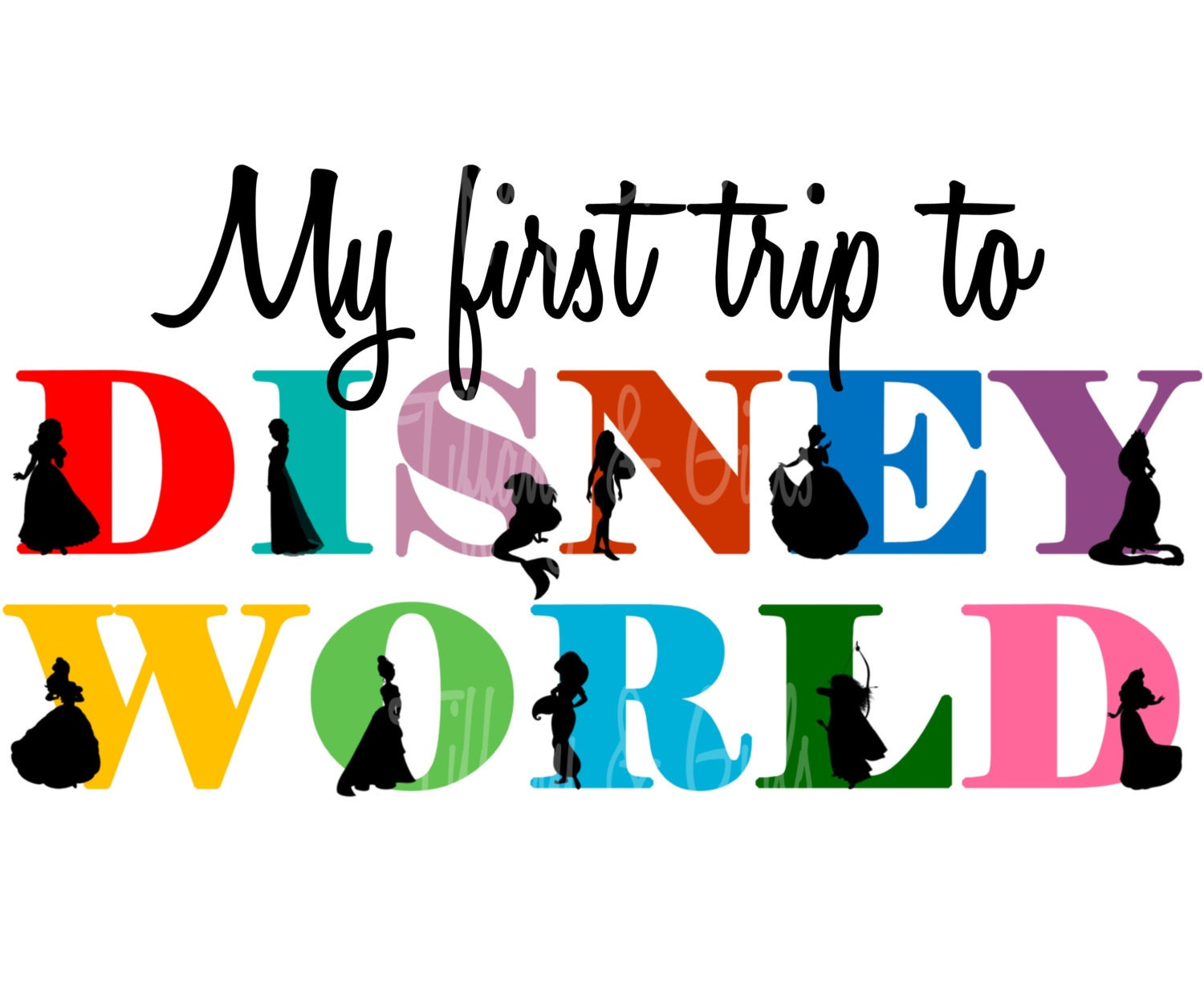 INSTANT DOWNLOAD First Trip to Disney World Princess