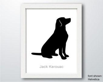 Personalized Hand-Cut Labrador Retriever Silhouette with Custom Name (version 2) - Labrador art, Labrador portrait, dog home decor