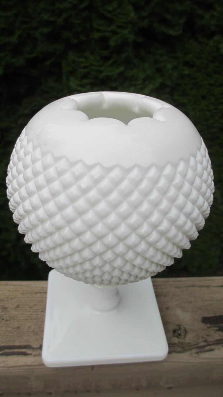 Vintage Westmoreland Milk Glass Ivy Ball Vase