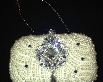 Pearl Clutch Bag, Evening Clutch, Bridal Clutch Bag, Custom Wedding Accessories