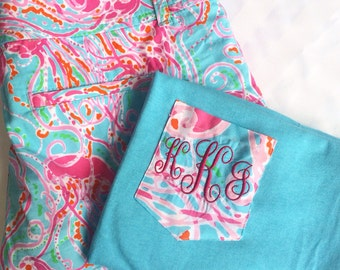 Monogram *SALE*  Add on for Pocket Shirt or Bows