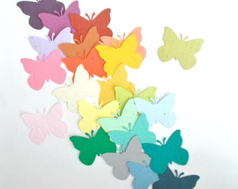 25 Butterfly Confetti - Eco Friendly Plantable Paper Wedding, Shower and Party Decoration - Your Choice of Colors