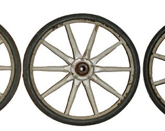 Vintage Folk Art  carriage wheels spokes decor