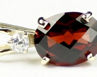 Mozambique Garnet, 14KY Gold Pendant, P021