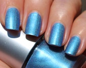 Arctic Ocean Holographic Franken Nail Polish - Blue-gray color with holographic effect