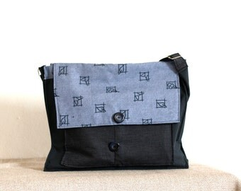 Back to school  ,back to work,messenger bag,OOAK