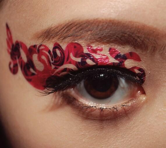 1 pair fake eye temporary tattoo holiday makeup by cclstore for Eye temporary tattoo makeup